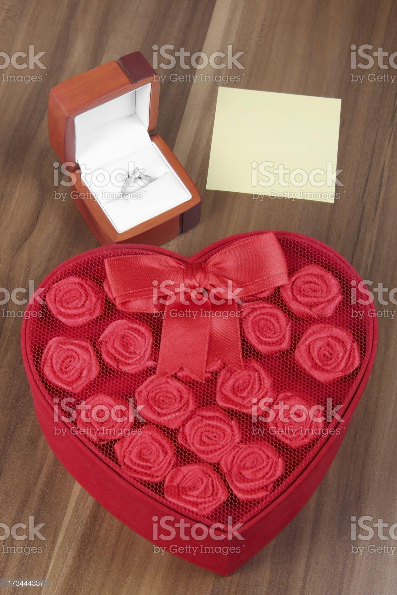 Diamond and Gift Box royalty-free stock photo