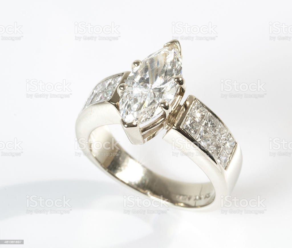 Diamond and Gold Wedding Ring royalty-free stock photo