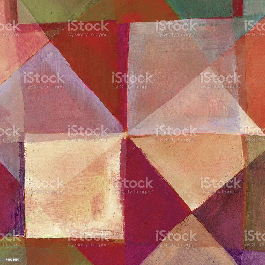 Diamond and Square Abstract Art royalty-free stock photo