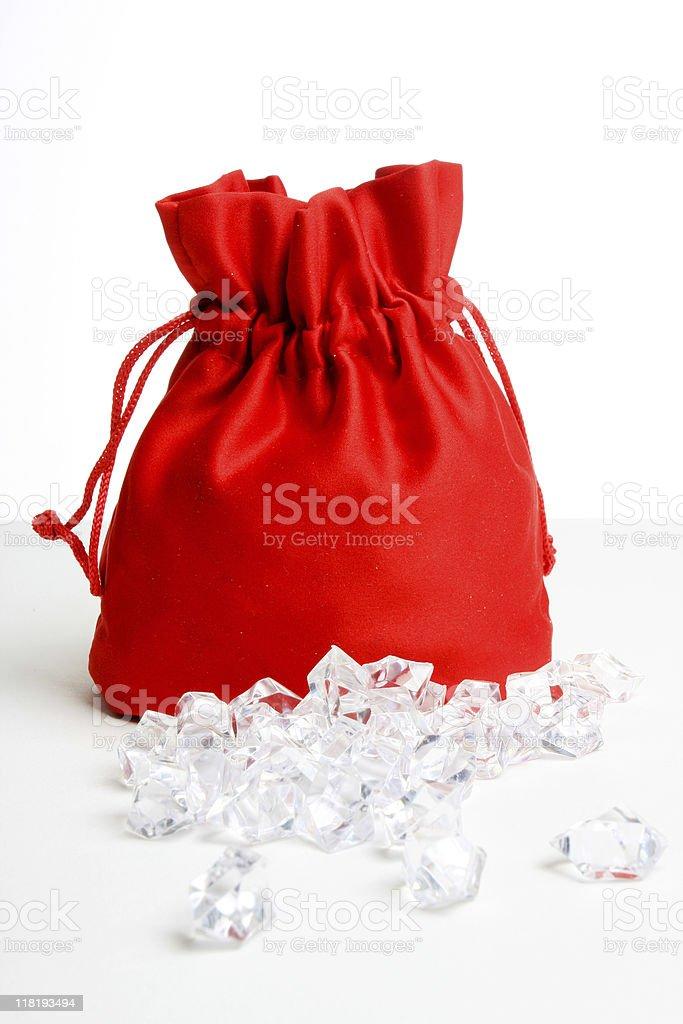 diamond bag stock photo