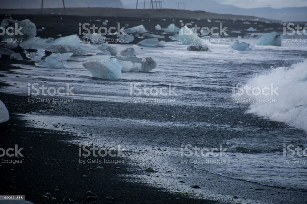 Diamond beach stock photo