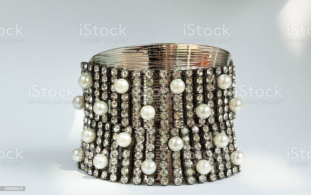 Diamond bracelet royalty-free stock photo