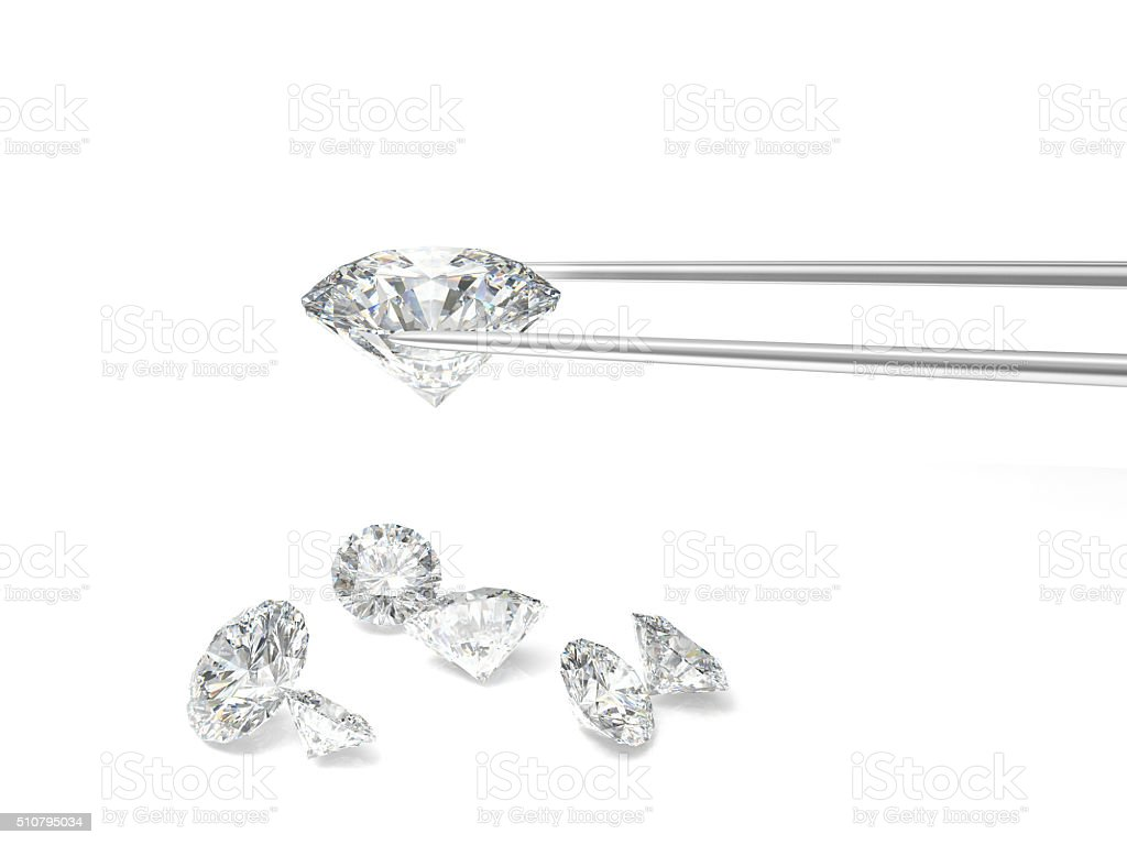 diamond classic cut stock photo
