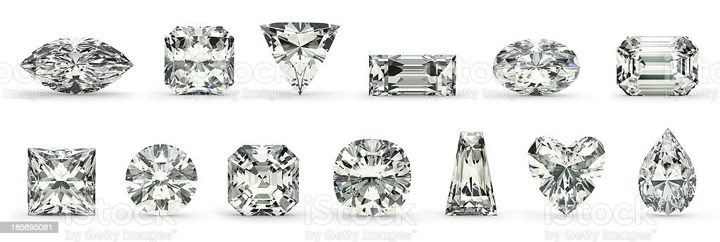 Diamond Cuts stock photo