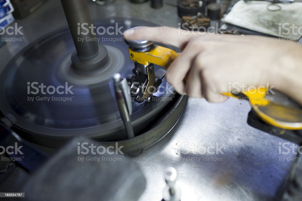 diamond cutting table stock photo