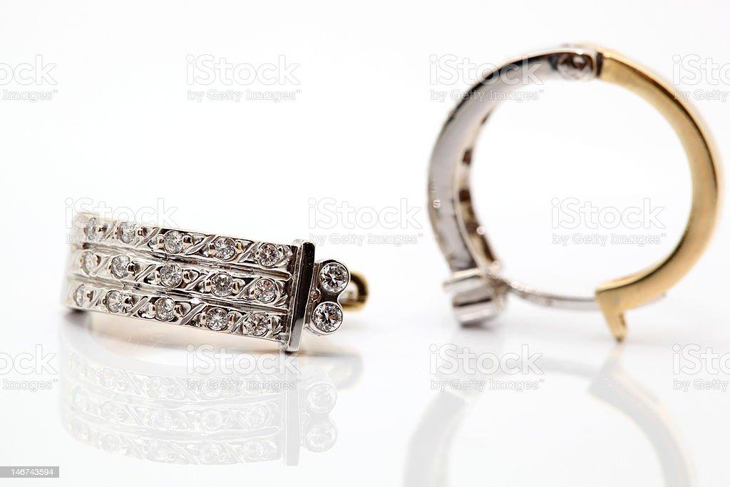 diamond earings royalty-free stock photo