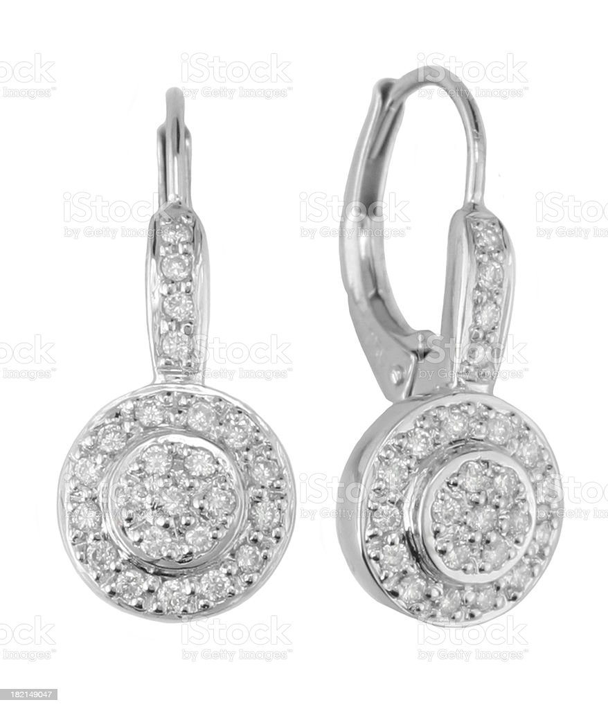 Diamond Earings stock photo