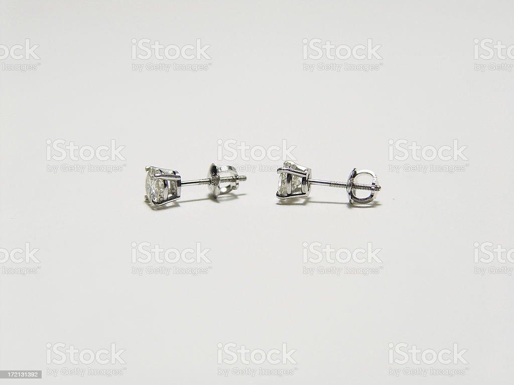 Diamond Earrings royalty-free stock photo