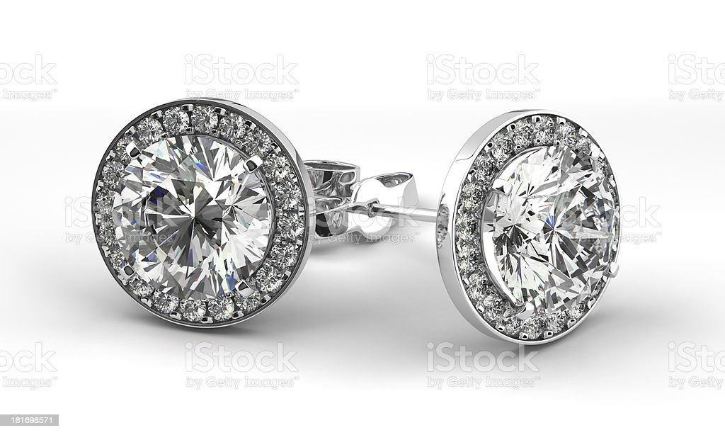 Diamond Earrings stock photo