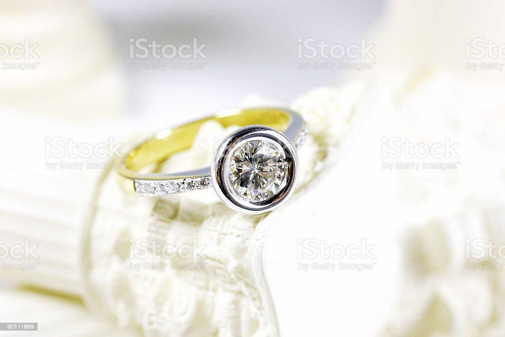 Diamond Engagement Ring 2 stock photo