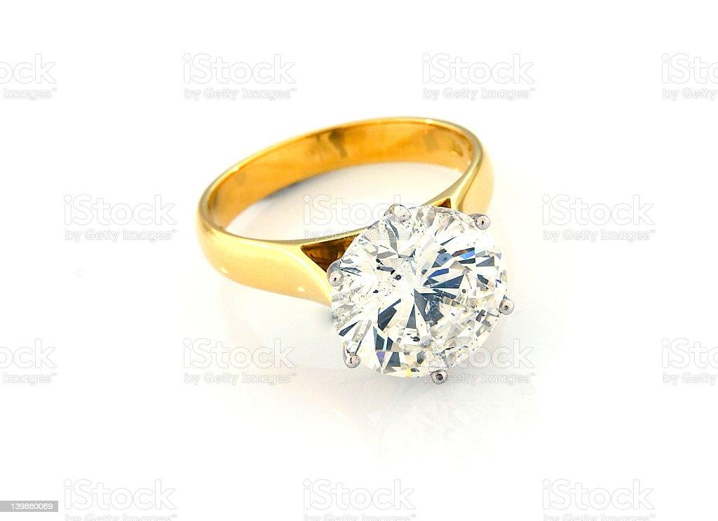 Diamond Engagement Ring 4 royalty-free stock photo