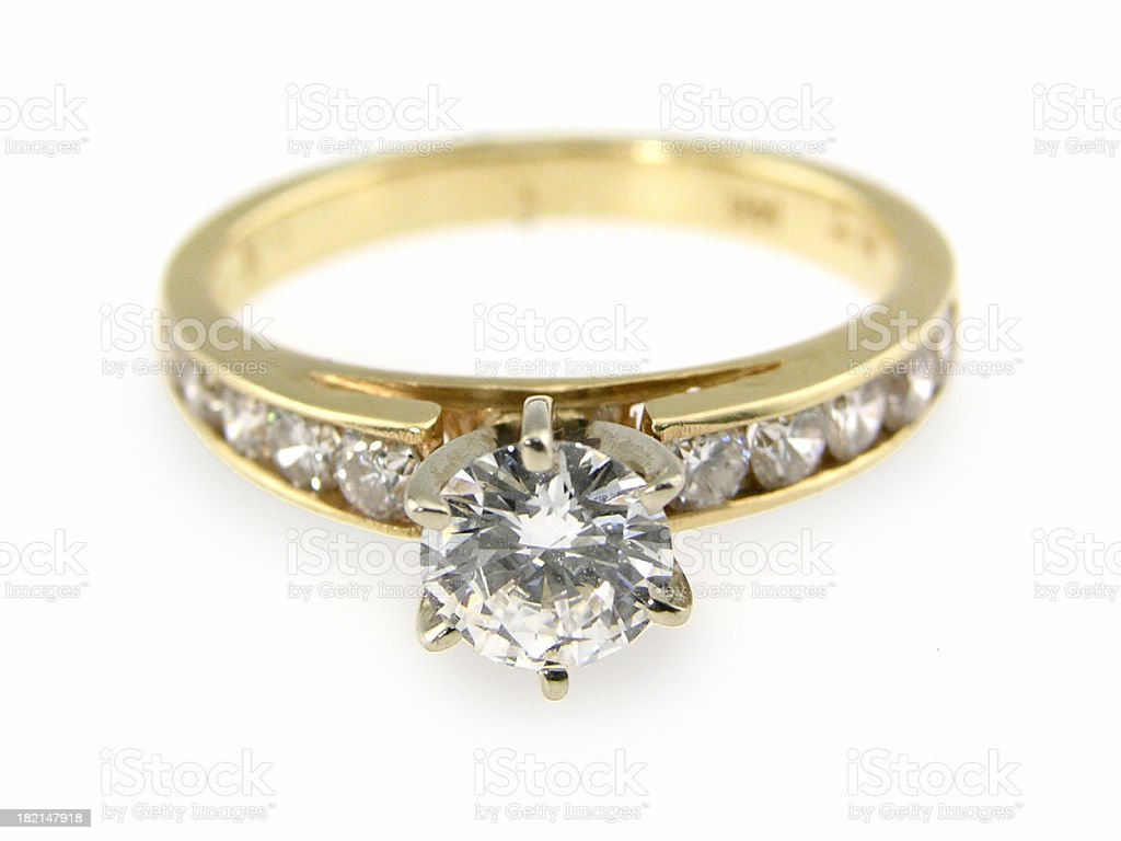 Diamond engagement ring royalty-free stock photo
