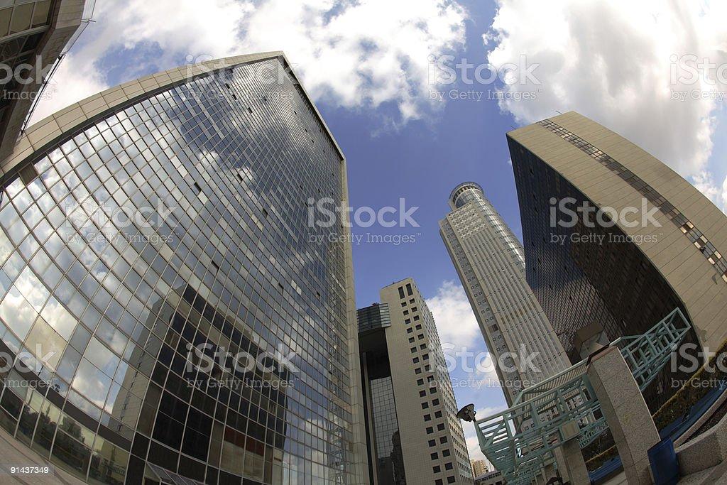 Diamond exchange center stock photo