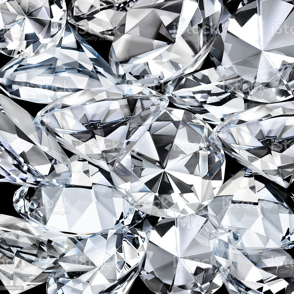 Diamond Facets Closeup as a  Background stock photo