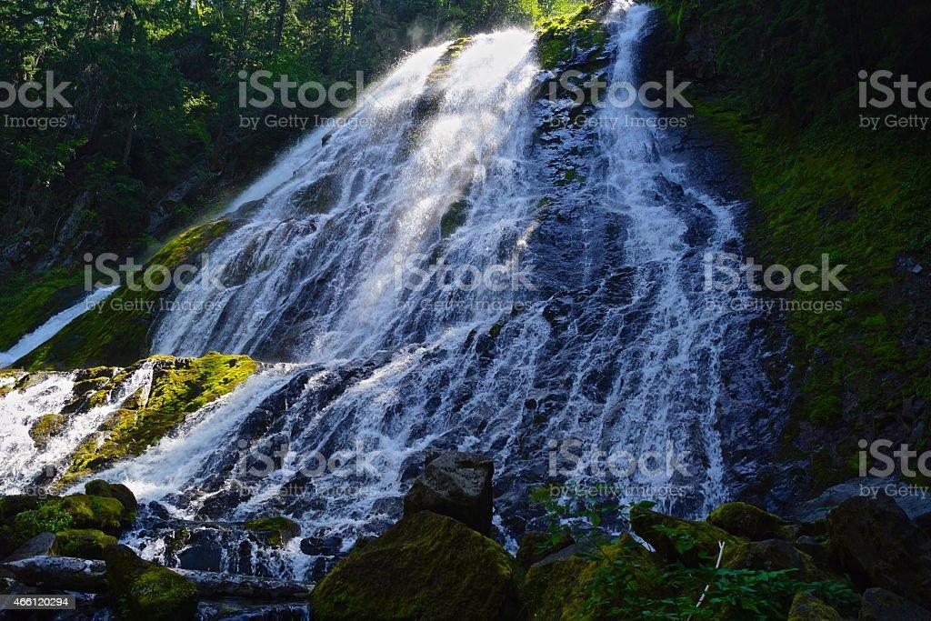 Diamond Falls stock photo