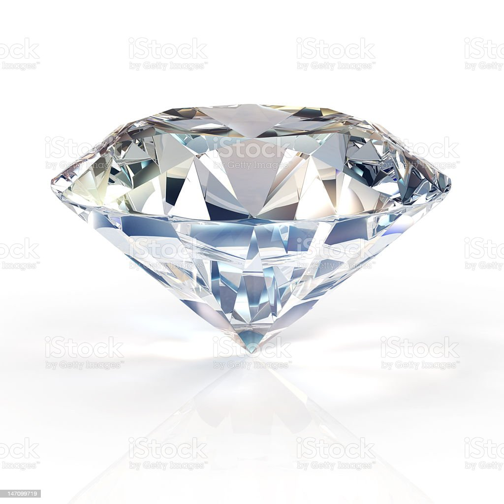 Diamond for engagement rings. Beautiful round shape emerald pictures . royalty-free stock photo
