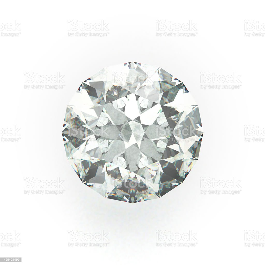 Diamond, Gemstone, isolated on White Background stock photo