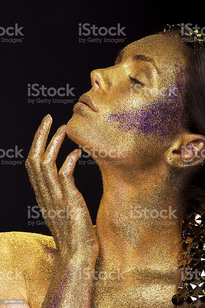 Diamond Girl royalty-free stock photo