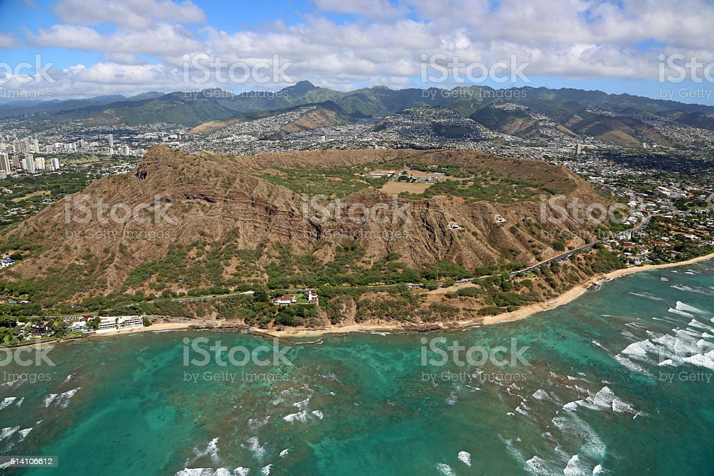 Diamond Head crater stock photo