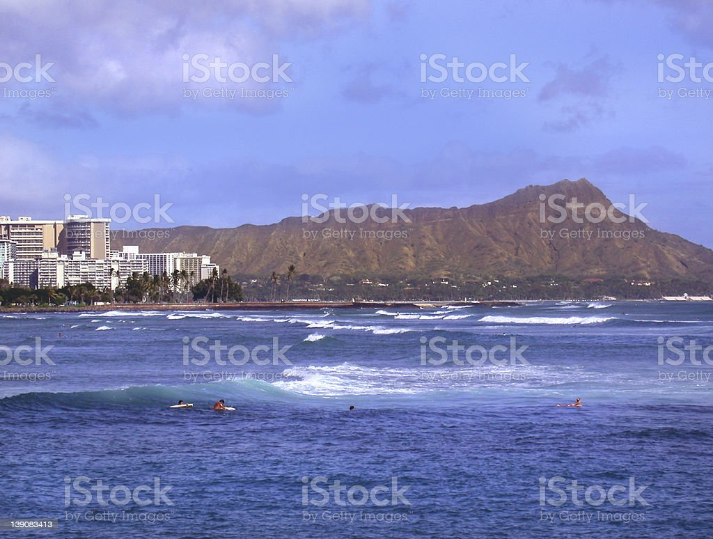 Diamond Head, Hawaii royalty-free stock photo