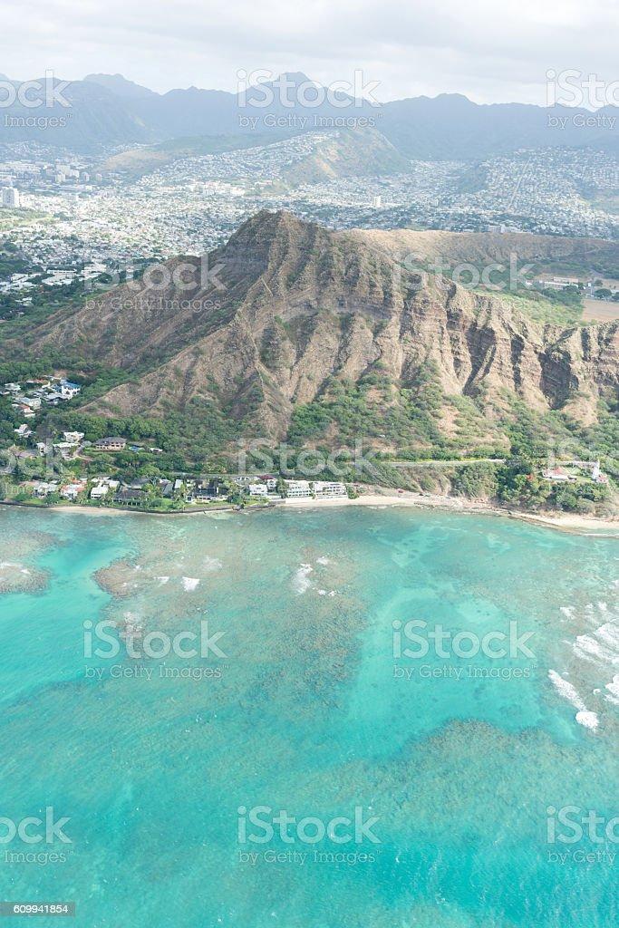 Diamond Head, Hawaii stock photo