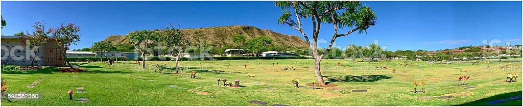 Diamond Head Memorial Cemetery stock photo
