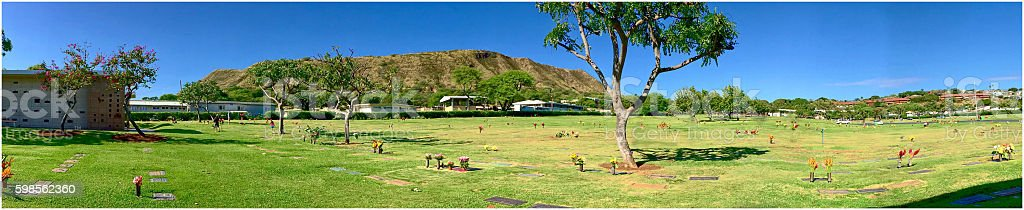 Diamond Head Memorial Cemetery stock photo