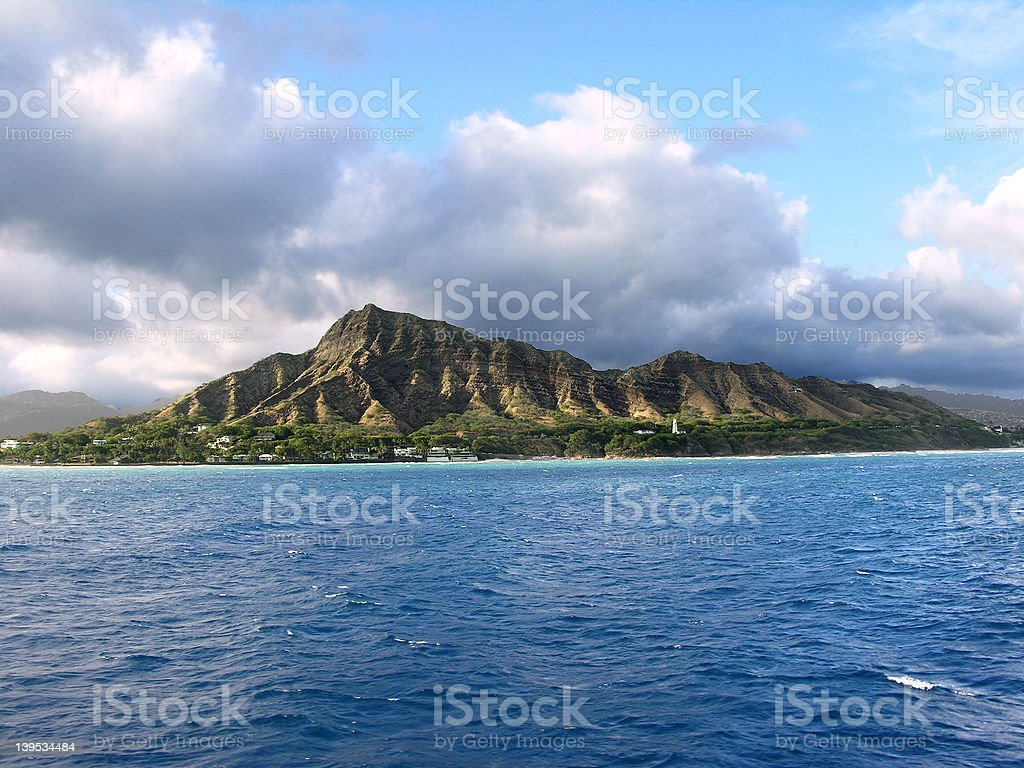 Diamond Head royalty-free stock photo