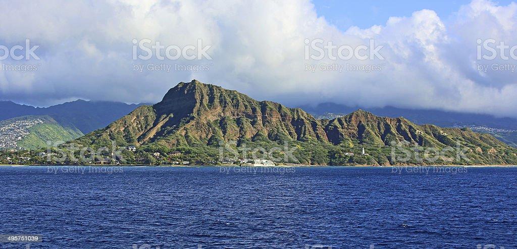 Diamond head - volcanic cone stock photo