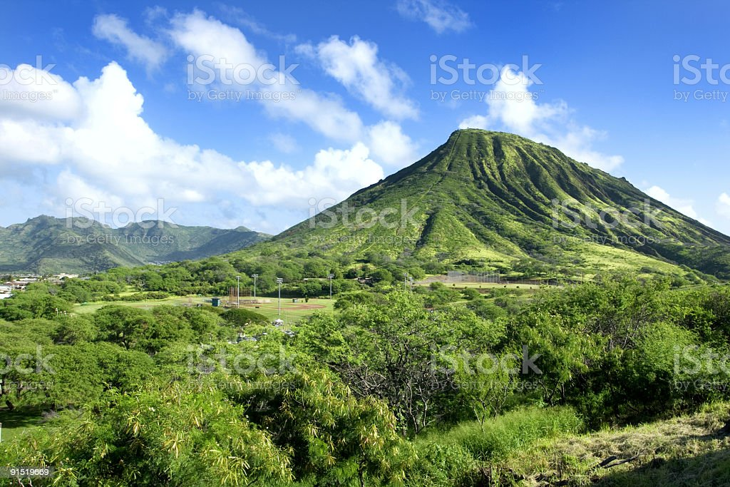 Diamond Head Volcano royalty-free stock photo