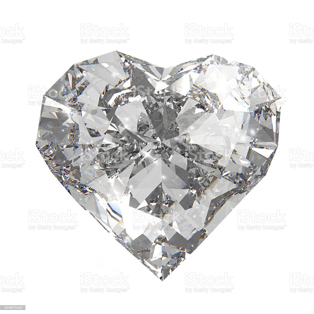 diamond heart shape royalty-free stock photo