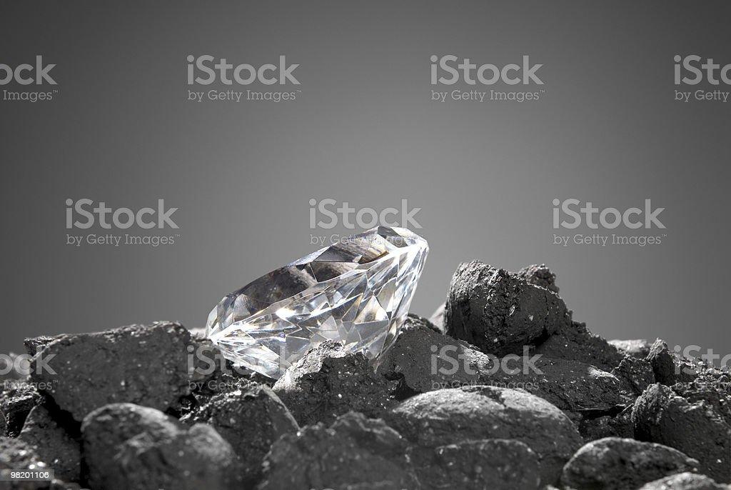 Diamond in the rough royalty-free stock photo