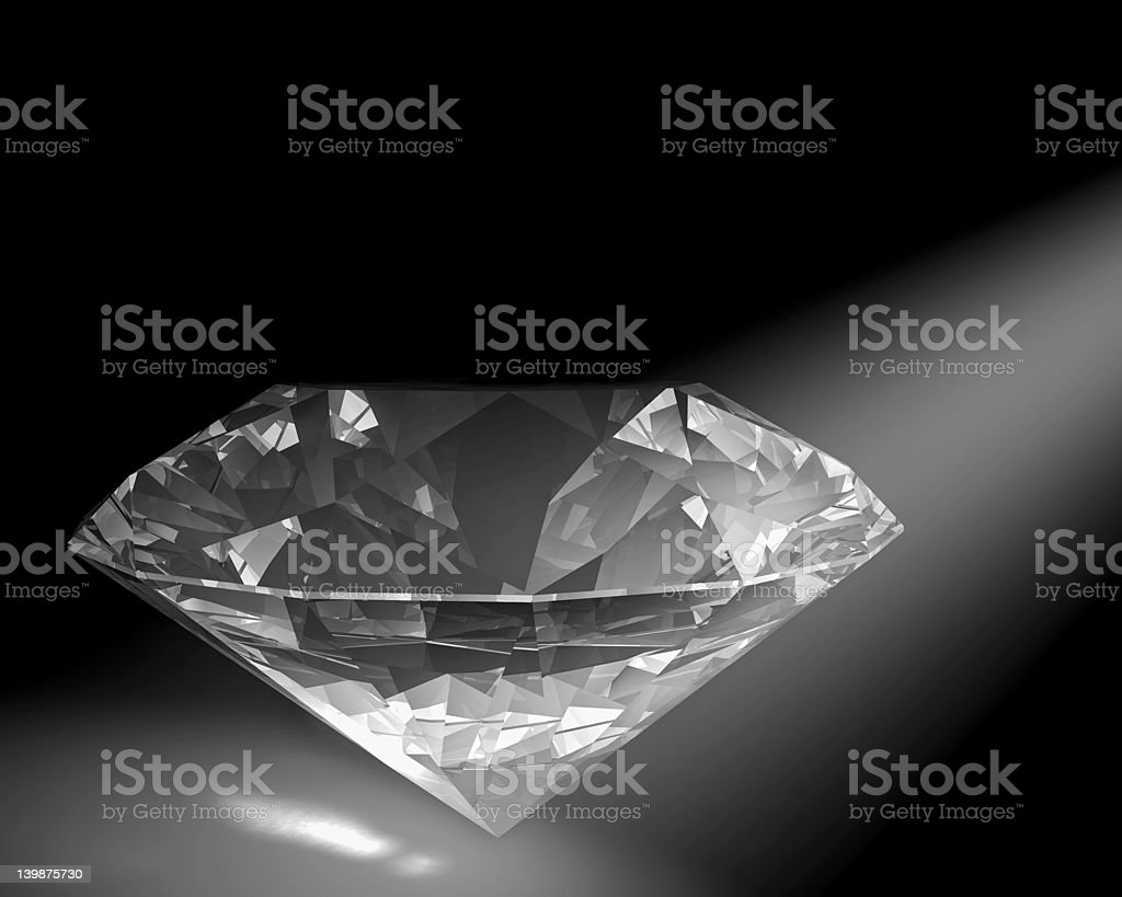 Diamond in white light royalty-free stock photo