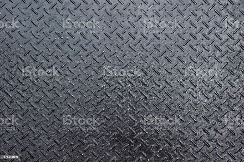 Diamond iron plate stock photo
