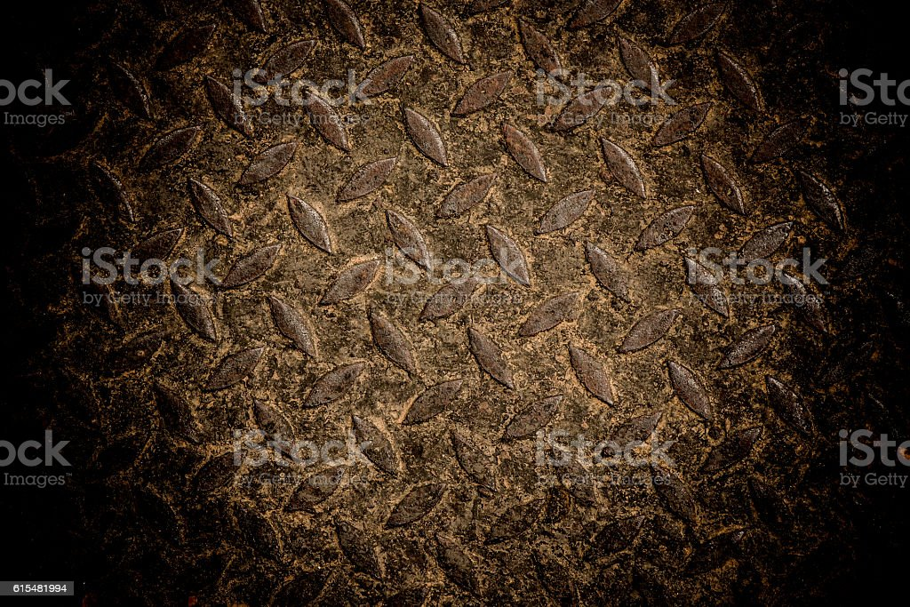 diamond iron plate stock photo