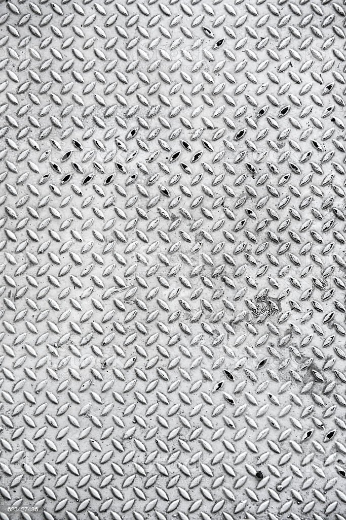 diamond iron plate texture as a background stock photo