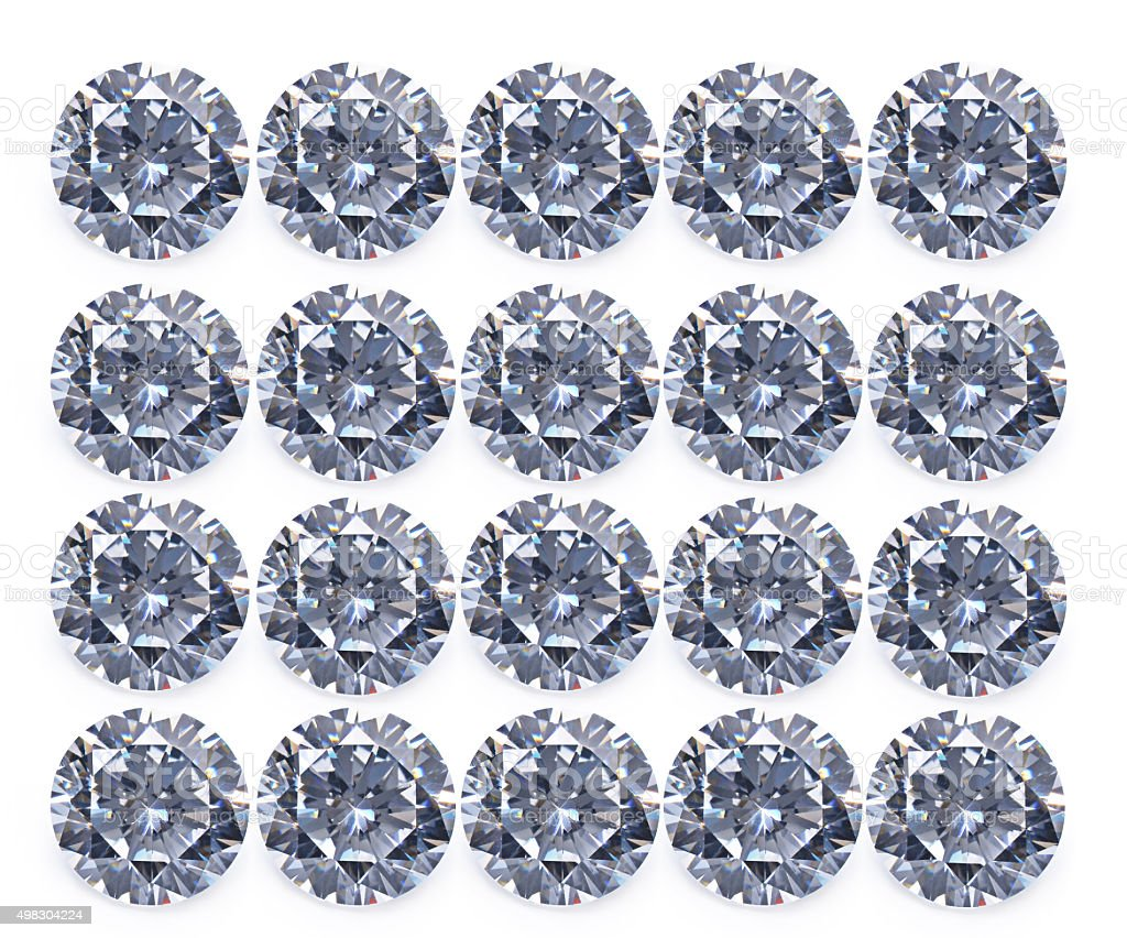 diamond isolated on white background stock photo