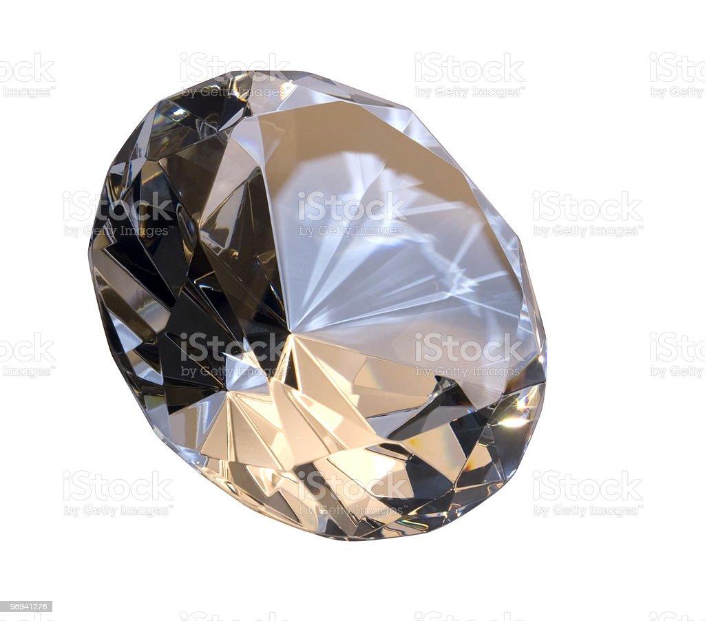 diamond isolated on white royalty-free stock photo