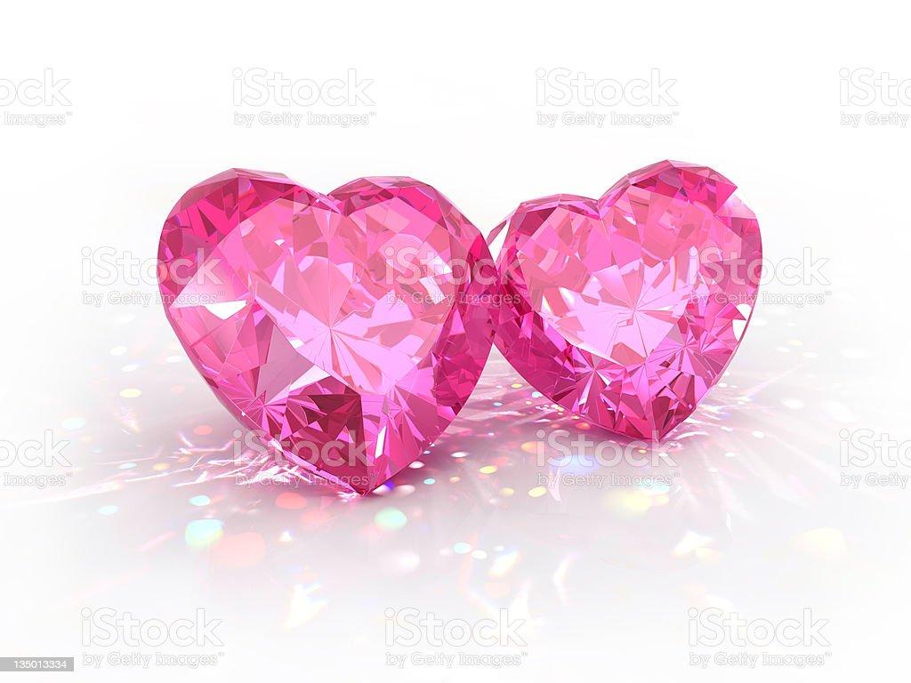 diamond jewel hearts Valentines Day stock photo