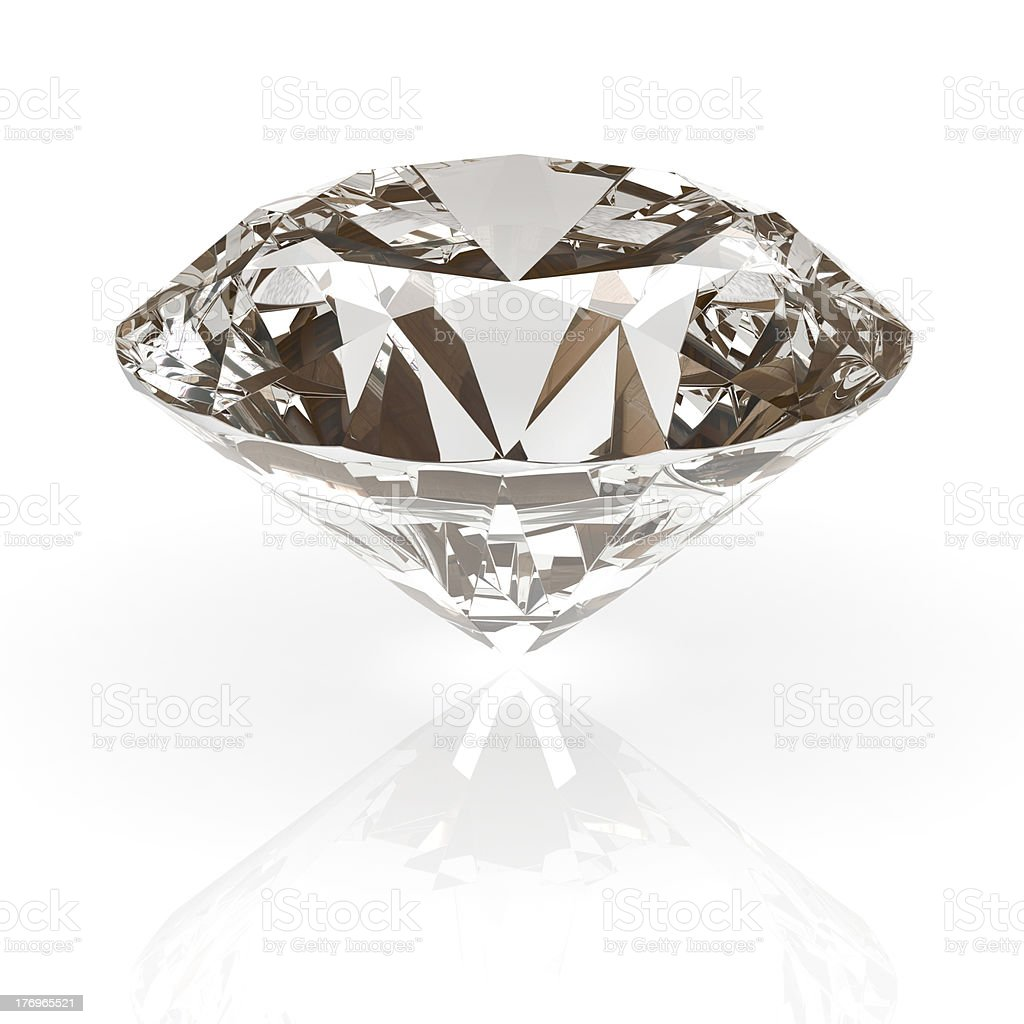 Diamond jewel isolated royalty-free stock photo