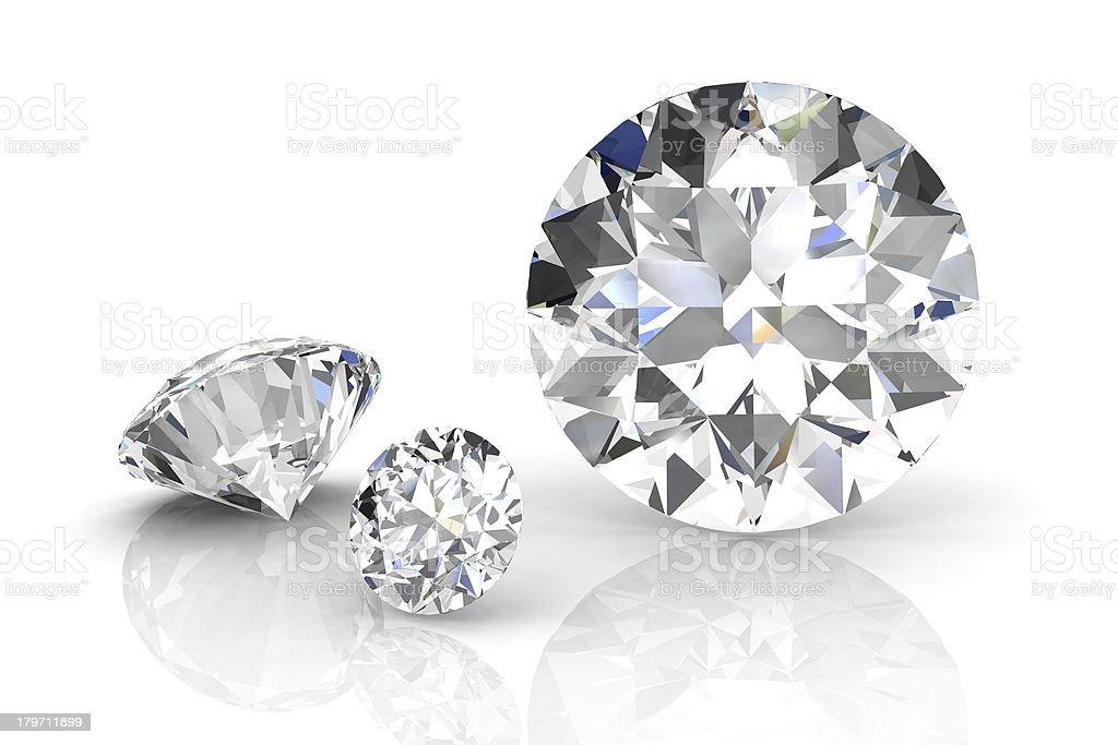 diamond jewel on white background. High quality 3d render stock photo
