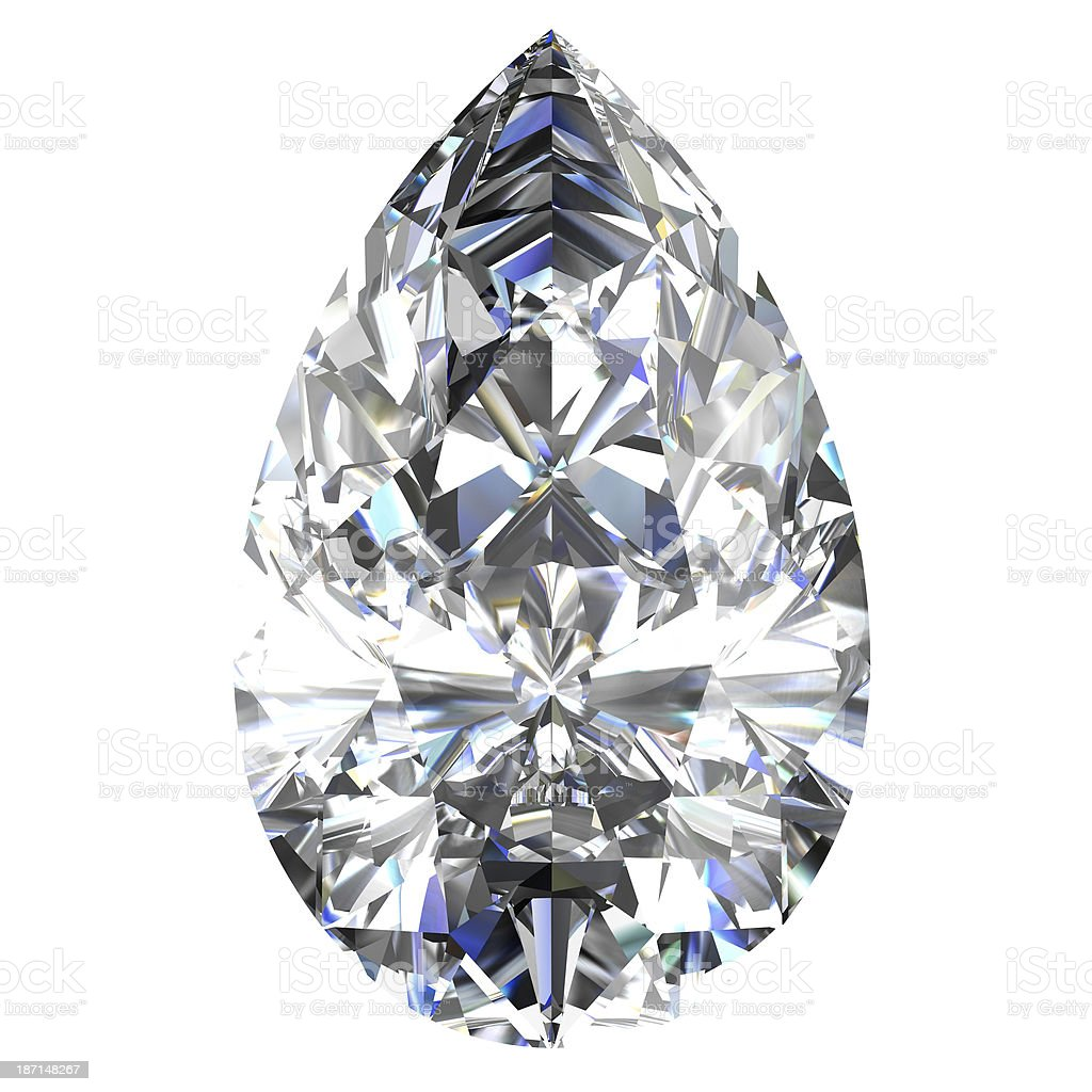 diamond jewel on white background royalty-free stock photo