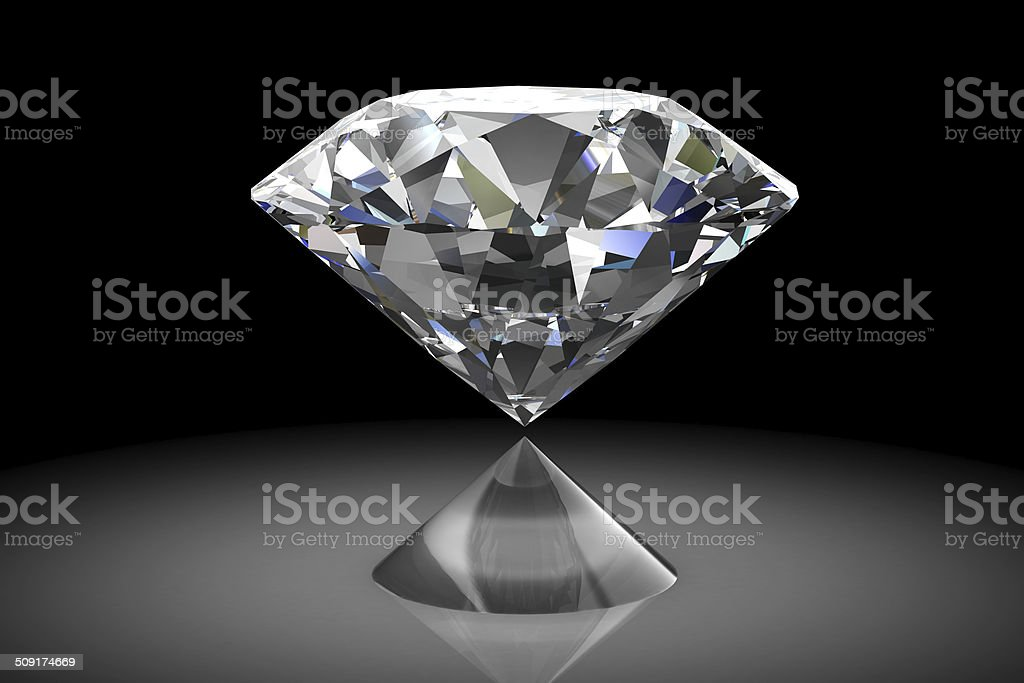 diamond jewel (high resolution 3D image) stock photo