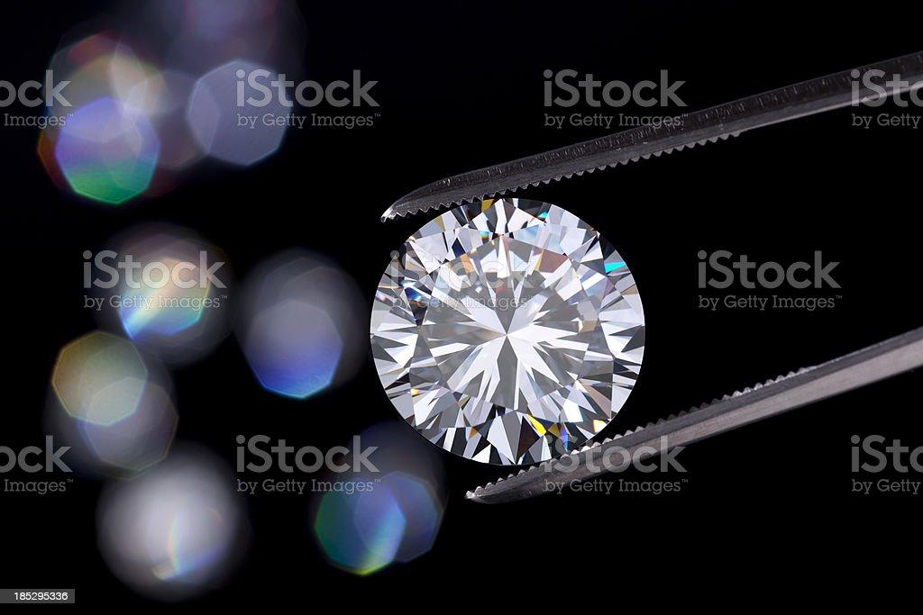 Diamond  jewelry holding royalty-free stock photo