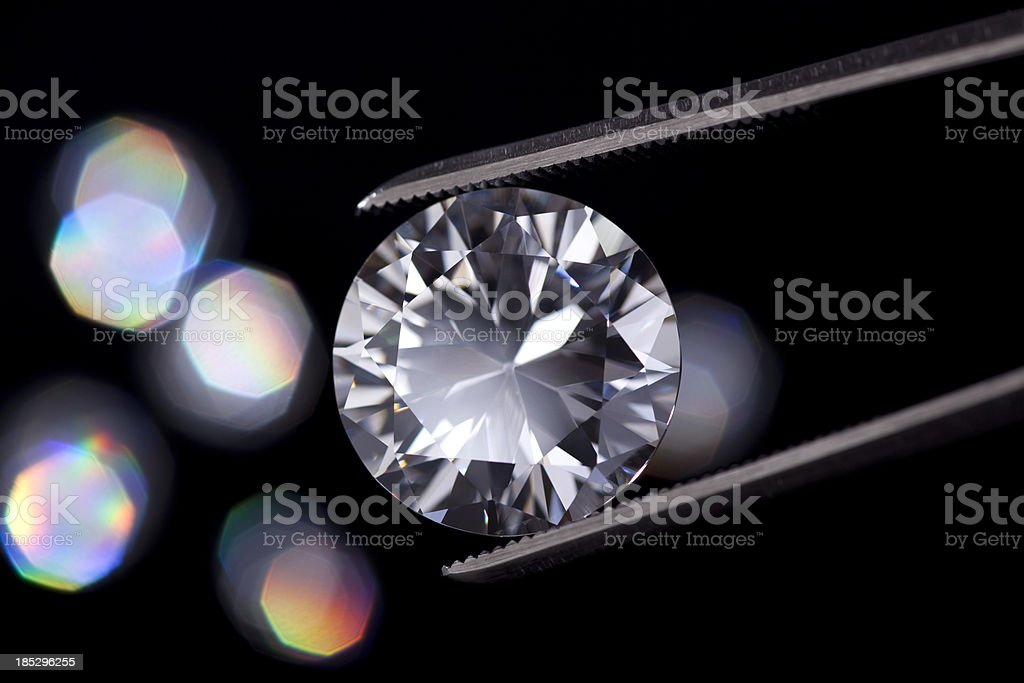 Diamond  jewelry holding stock photo