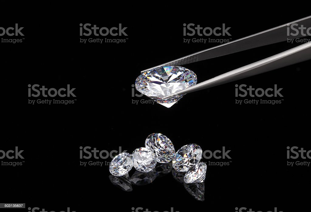 Diamond jewelry holding royalty-free stock photo