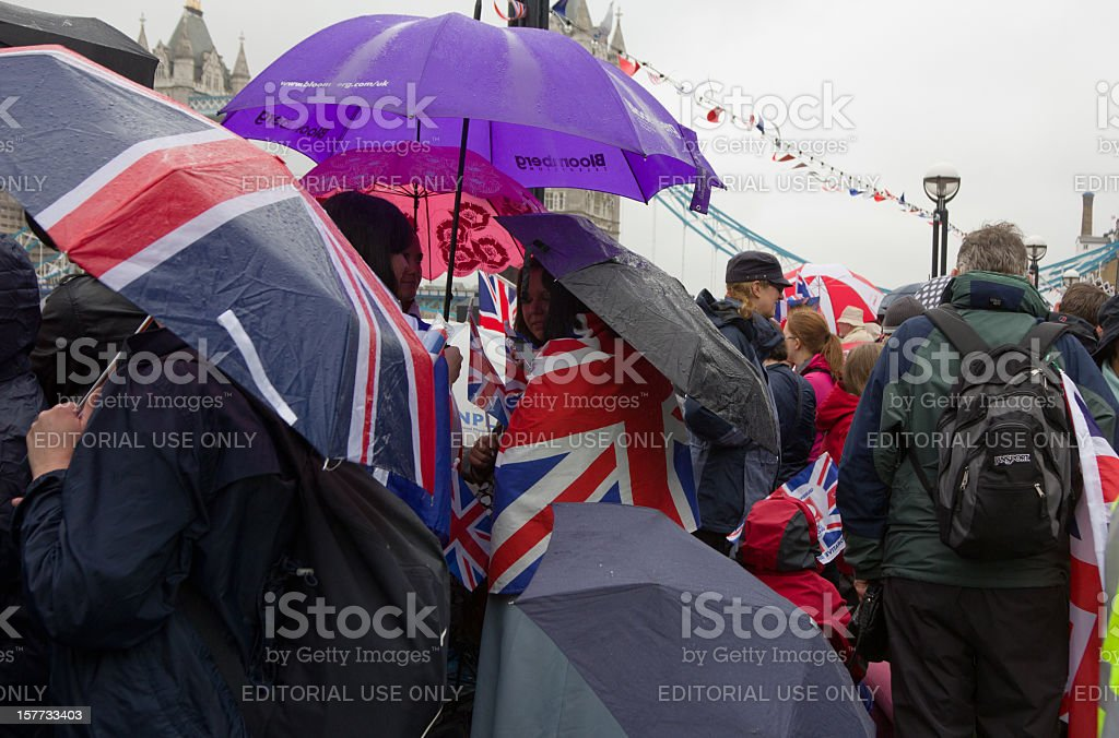 Diamond Jubilee in London, England stock photo
