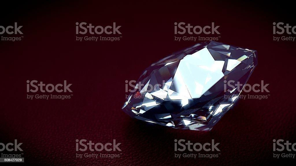 diamond leather red stock photo
