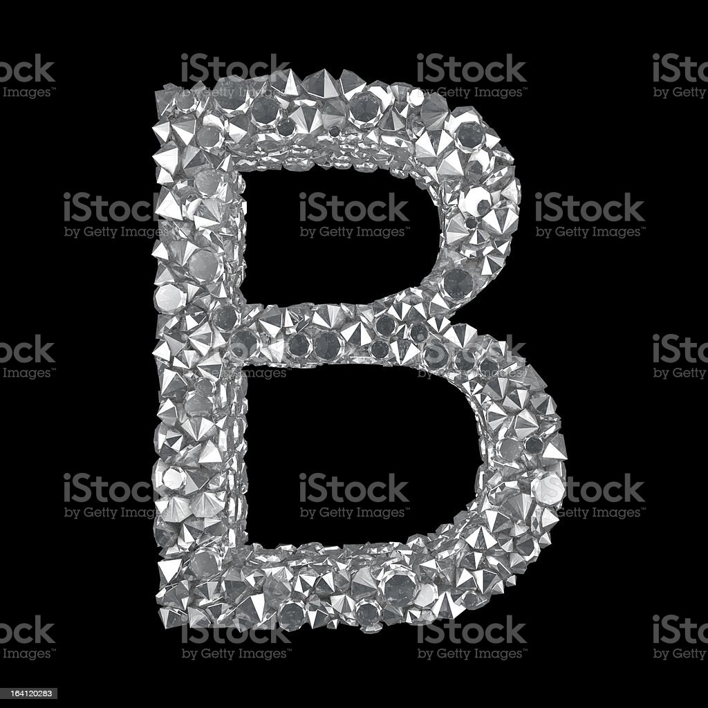 Diamond Letter B royalty-free stock photo