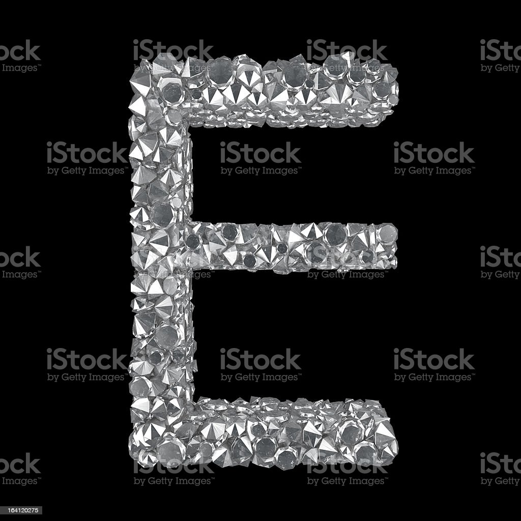 Diamond Letter E royalty-free stock photo